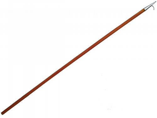 2.5 Metre, Wooden Single Boat Hook , Stainless Steel - Marine / Boat / Chandlery